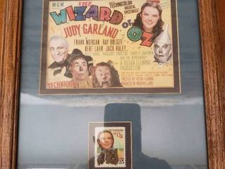 Wizard of Oz Promo Card and Stamp   Framed Wall Art   10  x 12