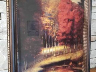 River and Woods   Framed Wall Art   26  x 31