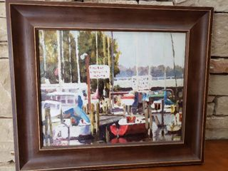 Dockside   Framed Wall Art   By Dan Beard   25 5  x 21 5