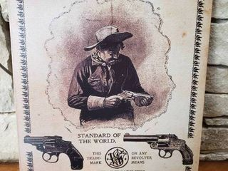 Smith   Wesson Revolvers   Metal Wall Art   12 5 x 16