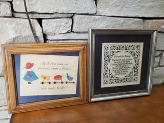 lot of 2 Family Themed Wall Art Pieces   10  x 12  12 5  x 12
