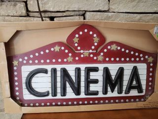 Cinema Marquee Wall Plaque   24  x 13