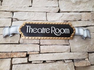Theatre Room Wall Plaque   5 5  x 27