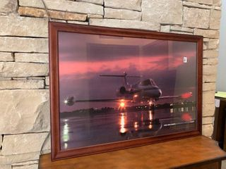 learjet Plane   Framed Wall Art   39  x 27