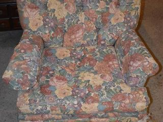 Flower Pattern Arm Chair   3  W x 2  7  T