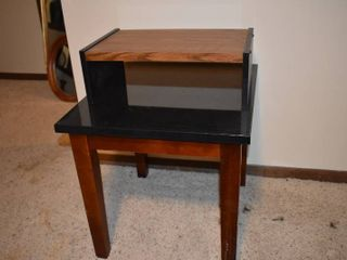 Modern Wood End Table With Bed Tray   21  x 23  x 20 5