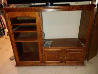 Wooden Media Cabinet   TV Not Included   4  6  W x 1  5  D x 3  7  T