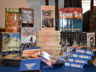 large lot of War Themed Non Fiction VHS Tapes
