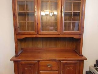 Wooden Hutch Display Cabinet   4  4  W x 1  5  D x 6  9  T