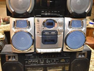 lot of 3 Assorted Brand Boomboxes   Model  s   Coby CX CD400  Durabrand CD  1493  Panasonic RX CT830