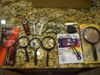 lot of 13 Assorted Magnifying Glasses
