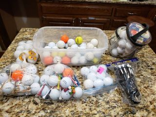 Golf Balls  Tees  Ball Caddy   Nitro  Top Flight  Max Fi etc