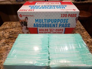 NIB Box and Half Full of Absorbent Pads   Members Mark   23  x 24
