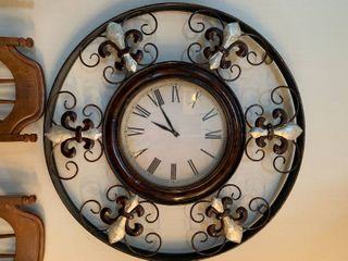Metal Decor Clock   37  Wide
