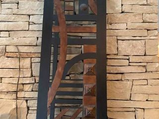 Metal Abstract Wall Decor Piece   60  x 20