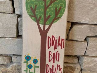 Dream Big Dreams   Wall Art   13  x 5