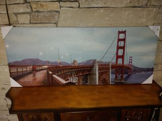 Golden Gate Bridge   Wall Art   40  x 16