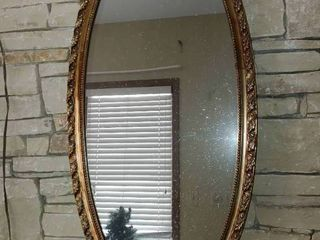 Tall Mirror in Ornate Frame   44  x 21