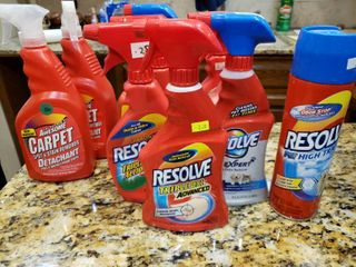 lot of 10 Resolve carpet Cleaner   Most Full