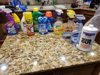 lot of 12 Cleaning Mixed lot   Glass Cleaner  Cascade  Jet Dry etc    Various Sizes