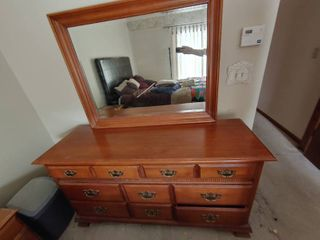 8 Drawer Dresser With Vanity Mirror   Young Republic Makers Mark   Dresser   5  W x 1  7  D x 2  8  T  Mirror   3  8  W x 2  10  T