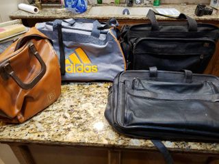 lot of 4 Mixed Bags   Bowling Bag  Briefcase  Carry on  Gym Bag
