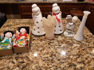 lot of 7 Dolls   Christmas   Precious Moments