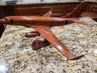 Wooden Airbus Airplane Decor Piece   10  Tall