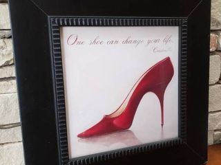 One Shoe Can Change Your life   Framed Wall Art   18 5  x 18 5