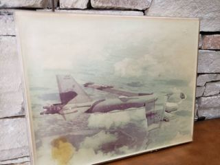 Military Plane   Framed Wall Art   16 5  x 20