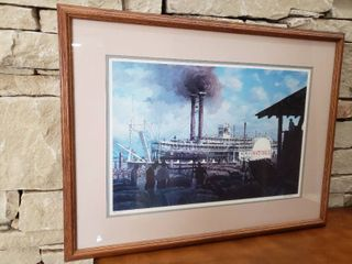 Natchez Steamboat   Framed Wall Art   28  x 21 5