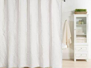 Realeza Raphaela European Matelasse Shower Curtain