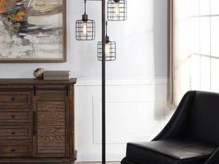 Carbon loft Memnet 3 light Caged Wire Pendant Floor lamp