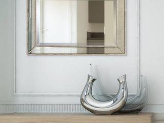 Champagne Bead Beveled Rectangular Mirror