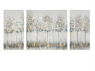 Madison Park Midst Forest Printed 3 Panel Canvas