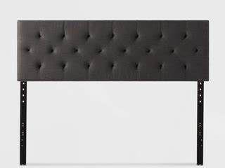 Brookside Emmie Diamond Tufted Adjustable Upholstered Headboard   Queen
