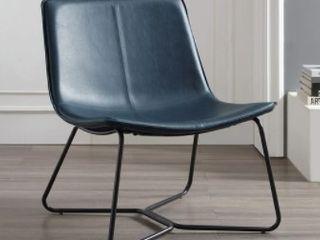 Carbon loft low Profile Faux leather Accent Chair
