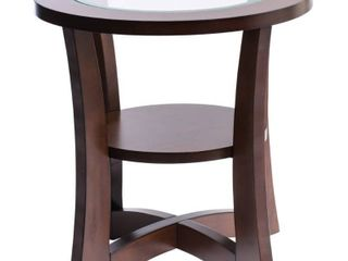 Copper Grove Eclipse Glass Top End Table
