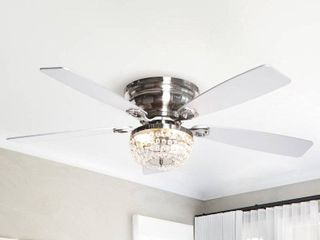 low Profile Crystal Indoor Ceiling Fan