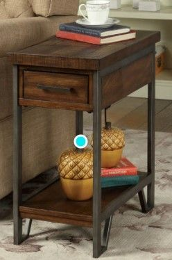 Furniture of America Quif Wooden Narrow USB Charging Table