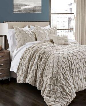 lush Decor Ravello Pintuck Comforter Set   King