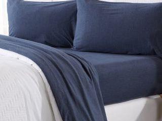 Great Bay Home Cozy Flex Super Soft Flannel Jersey Sheet Set   Queen