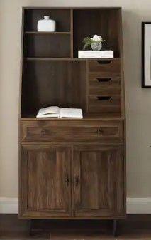 Carson Carrington Modern Desk  amp  Hutch