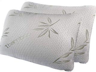 Bamboo Hypoallergenic Memory Foam Pillows   Standard   Set of 2