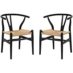 Poly  amp  Bark Wishbone Chairs   Set of 2