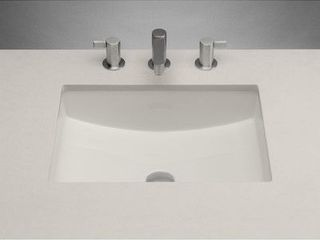 Undermount Bathroom Sink Single Bowl Ceramic Sink w  Overflow