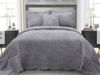 Harper Blvd Siena Faux Fur Bedspread Set   King