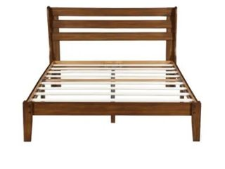 Sleeplanner Wood Platform Bed w  Headboard   King