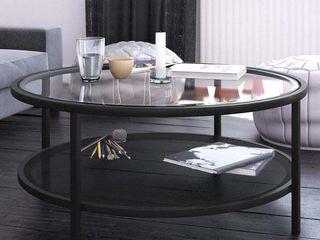 Carbon loft Mornie Industrial Metal Round Coffee Table