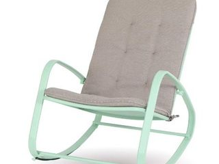 Sophia  amp  William Outdoor Patio Padded Rocking Chair